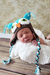 crochet newborn photo prop