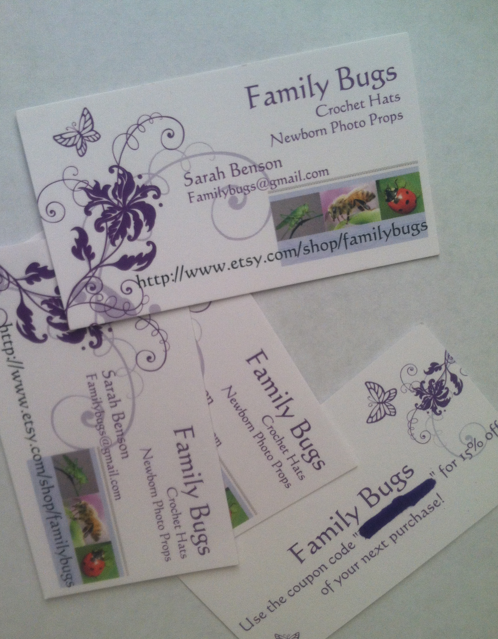 Business Cards — For the Hand-made craft seller – Family Bugs ...