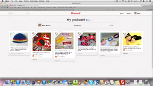 An example of what a pinterest board could look like