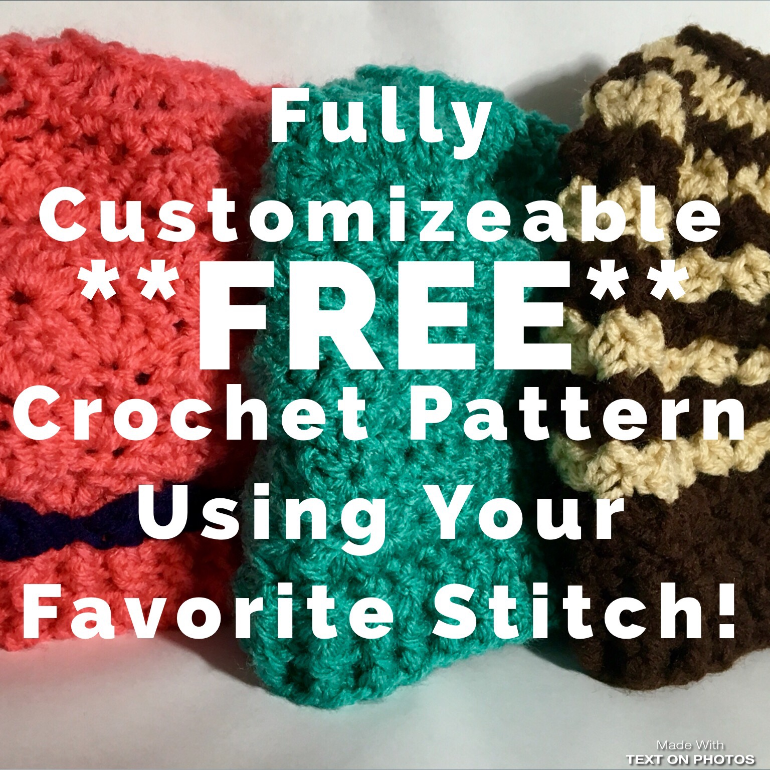 Free Crochet Pattern For A Messy Bun Hat Using Your Favorite Crochet