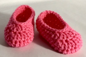 Crochet Newborn Slippers
