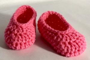 Crochet Newborn Slippers