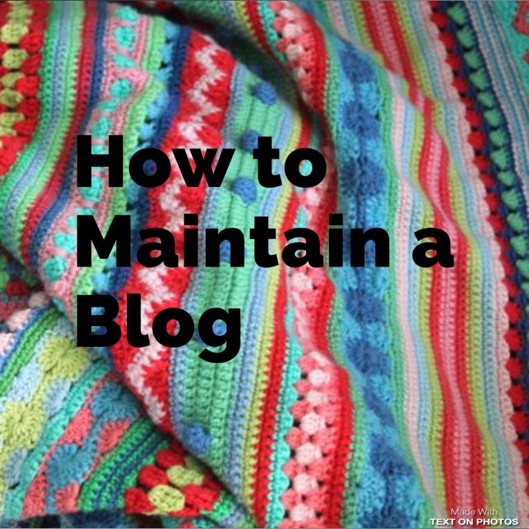 Maintaining a crochet blog