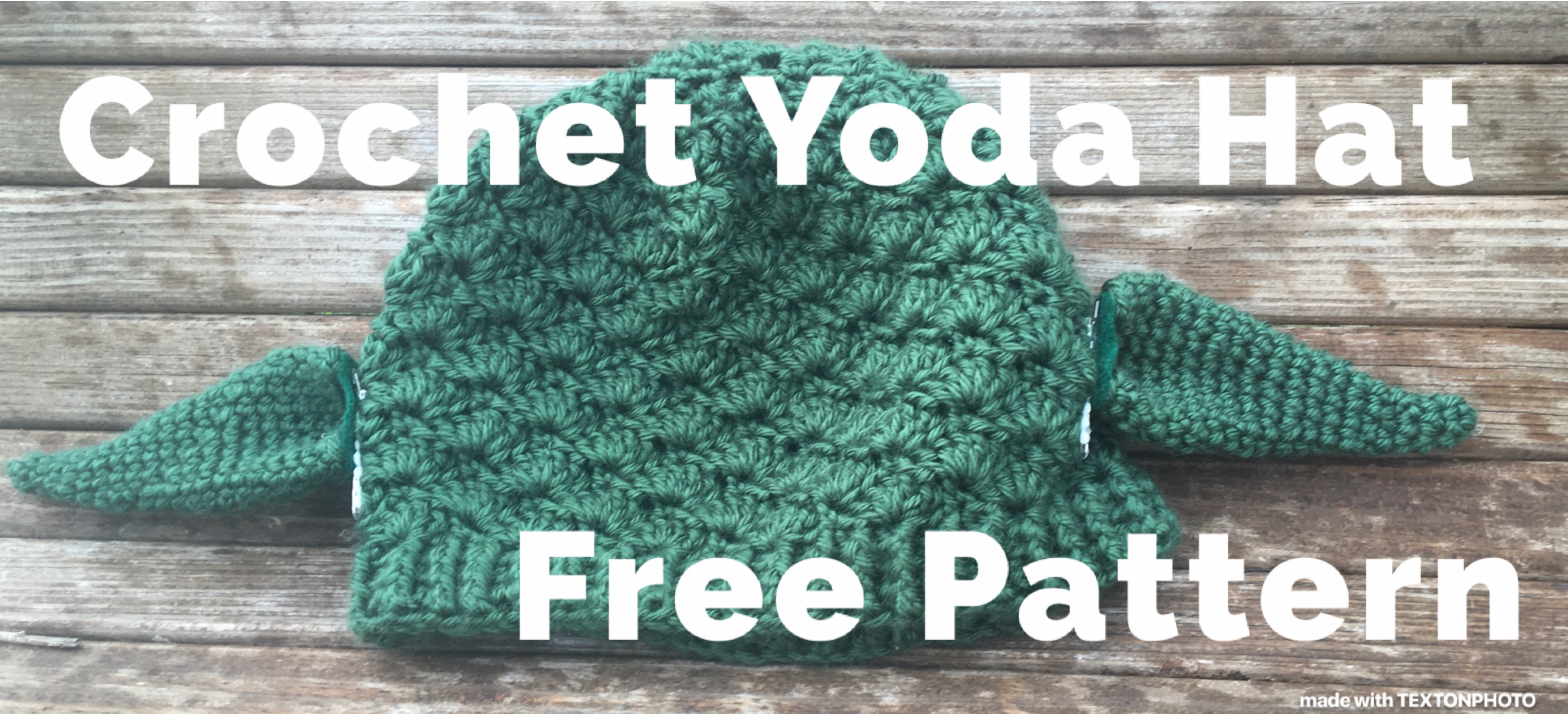 Yoda inspired Crochet hat – Family Bugs Crochet Designs