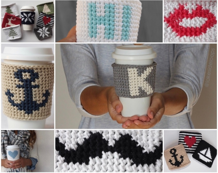 Tapestry coffee cozies