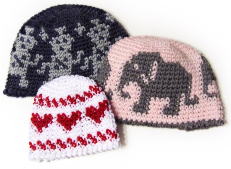 Tapestry crochet beanie