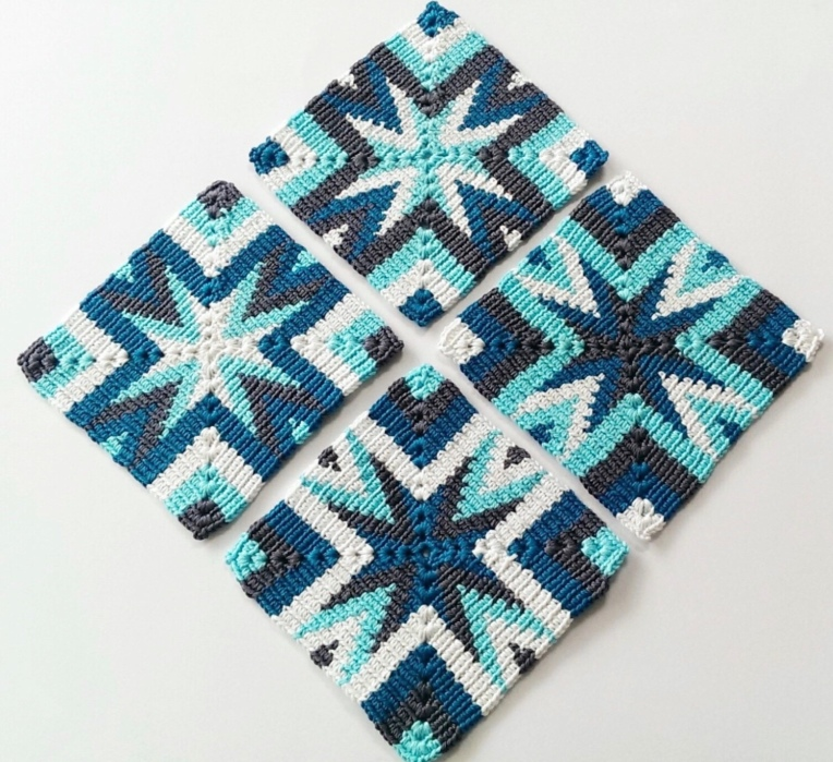 Tapestry coaster crochet pattern
