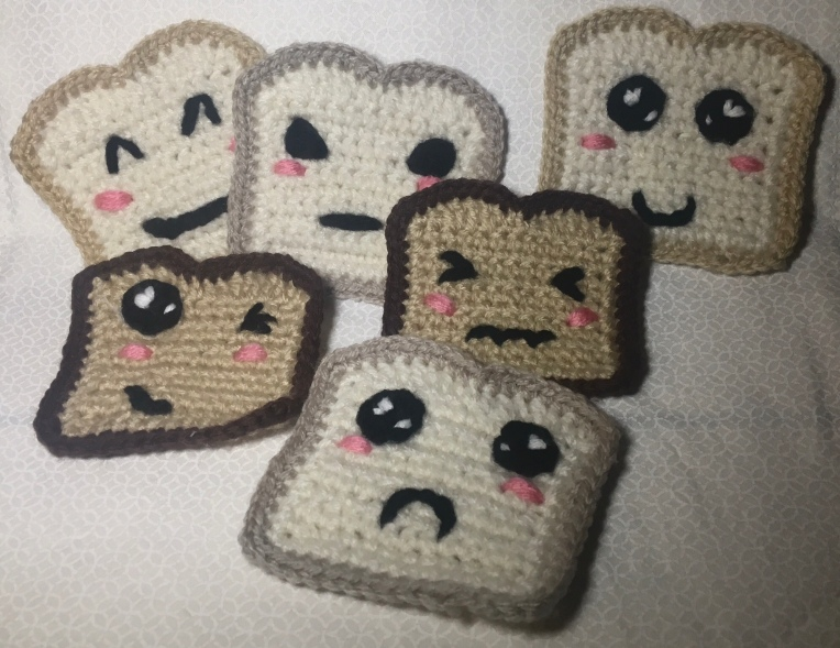 Crochet toast bread pattern