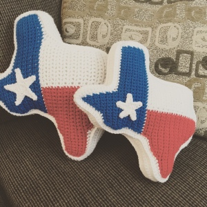 Crochet Texas Flag Pillow Pattern